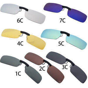 ac5db2d8bfc UV400 Polarized Sunglasses Clip On Flip-up Driving Glasses Day Night ...