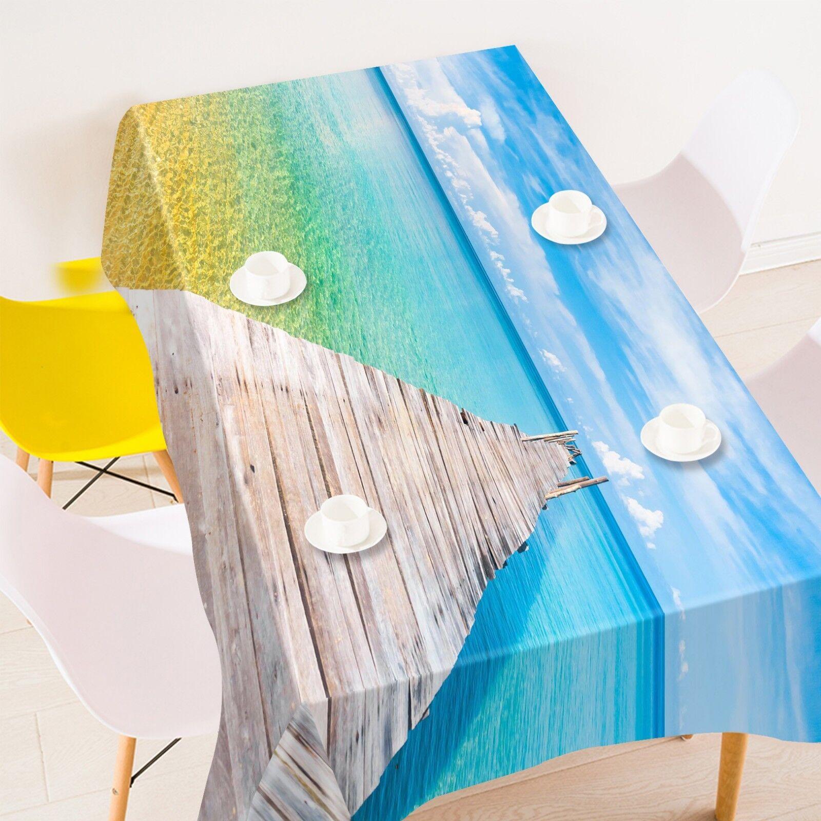 3D Bridge Ocean 137 Tablecloth Table Cover Cloth Birthday Party Event AJ Lemon