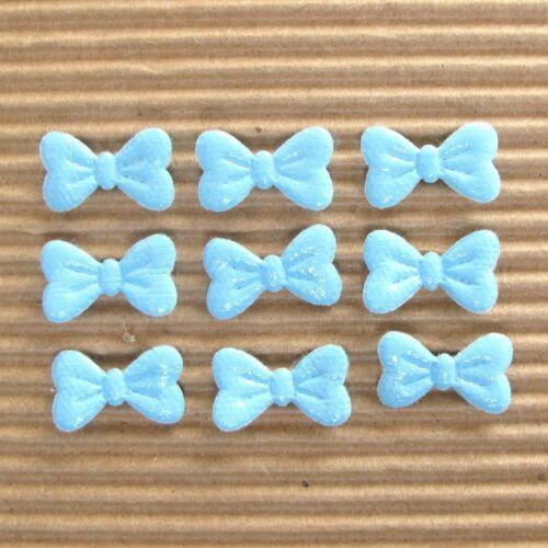 """120pc x 5//8/"""" Assorted Padded PVC//Vinyl Bow Appliques for Cards ST472 US SELLER"""