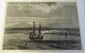 1883-magazine-engraving-POLYNESIAN-KINGDOM-Volcano-of-MANUA-LOA-Hawaii-Ships