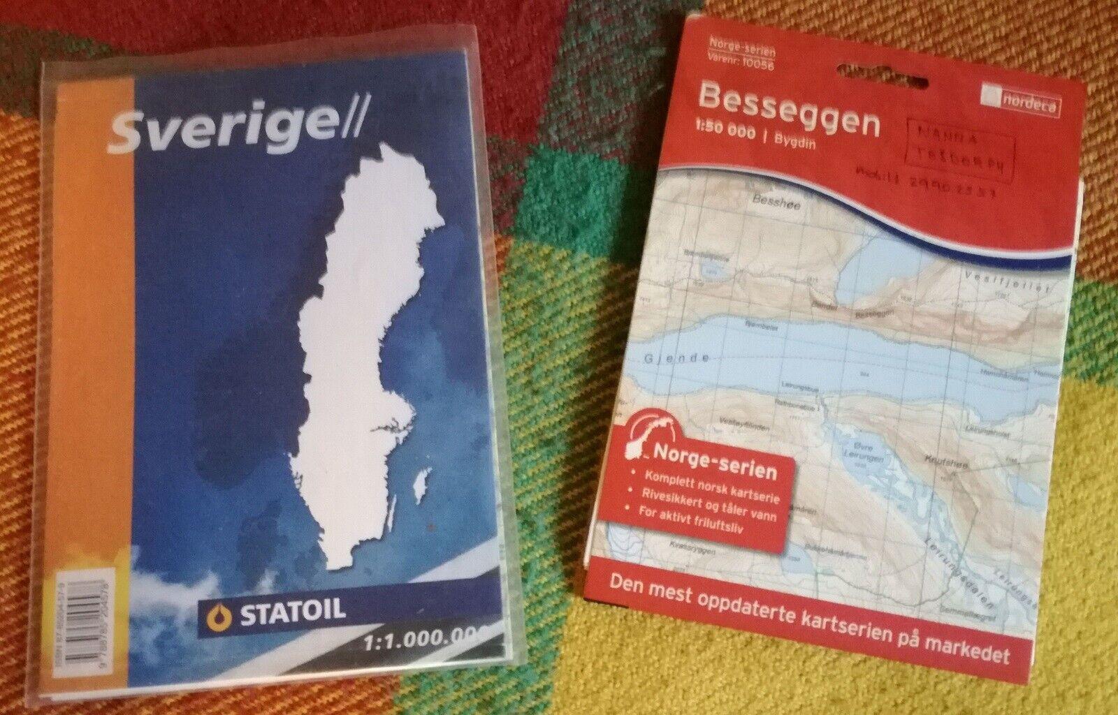 Norge Besseggen Topo Kort Og Dba Dk Kob Og Salg Af Nyt Og Brugt