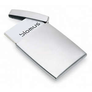 Blomus gents stainless steel business card holder hinged 68257 name image is loading blomus gents stainless steel business card holder hinged colourmoves