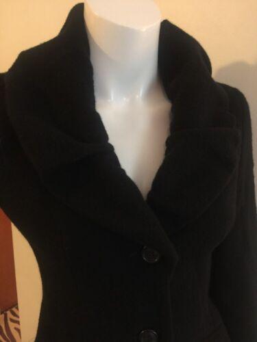 Black Blazer Sleeve Piazza Cashmere Jacket Size Long Blend Sempione Coat 40 xSx5IBq
