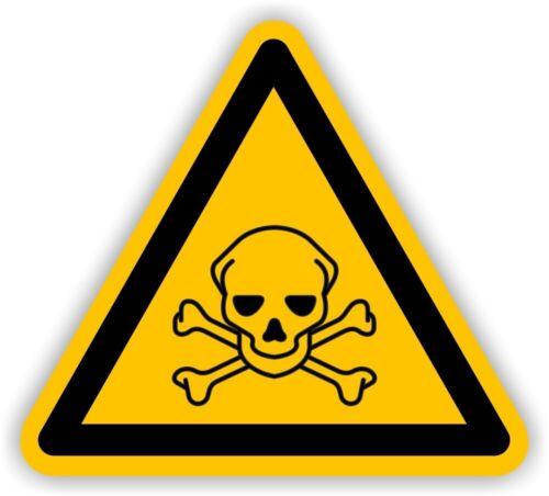 """Warnaufkleber Warnzeichen Schild /""""Giftige Stoffe/"""" Folie nach ISO 7010 20cm gelb"""