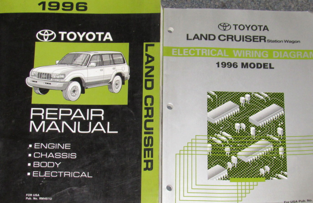 1996 Toyota Land Cruiser Service Shop Repair Workshop