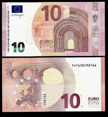 GREECE 10 EUROS 2014  DRAGHI NEW ! Y001E3  PRINTER- UNC Y PREFFIX A SERIE
