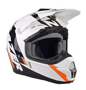 LAZER-X7-WHIP-HELMET-WHITE-BLACK-ORANGE-ADULT-MOTOCROSS-MX-ENDURO-QUAD-BMX-MTB