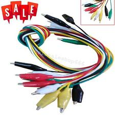 10pcs Double-ended Crocodile/Alligator Clip Cable Wire Testing Wire 50cm Durable