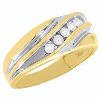 Diamant Trauring aus Edelstahl ELB18D Verlobungsring Ehering mit einem 0,08ct