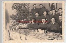 (F13435) Orig. Foto Luftwaffe-Soldaten an Tafel, Weihnachten 1940er