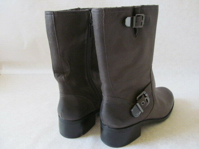 VINCE GENUINE CAMUTO GRAY 100% GENUINE VINCE LEATHER RIDING BIKER Stiefel SIZE 9 W - NEW d61a31