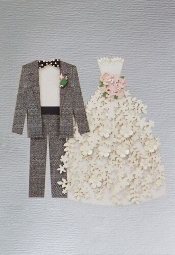 Decked out in its finest wedding attire Bride and Groom Wedding Card Details about  /Hallmark