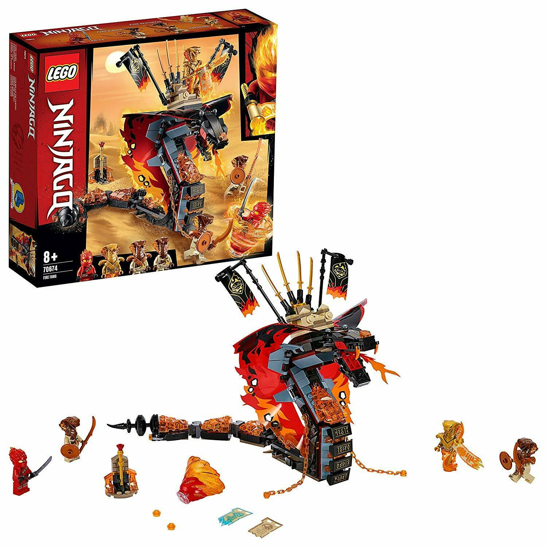 Lego 70674 NINJAGO FIRE Fang Cobra comme Serpentine Snake Building  Toy Playset  sortie d'usine