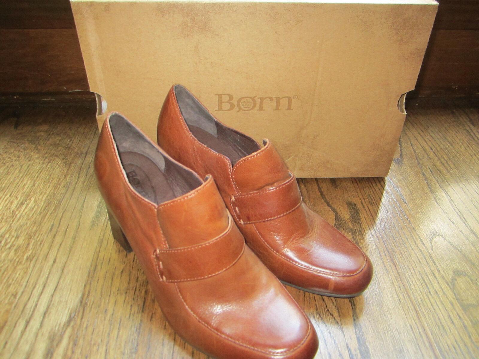 Born MOCHO Damenschuhe Größe 8 Tan Braun Leder Slip Pumps On Heels Pumps Slip Schuhes 8c2e47