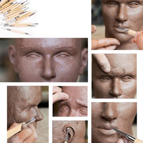 30x Keramik und Ton Skulptur Geschnitzt Werkzeug Clay Polymer Silikon DIY OPP DE