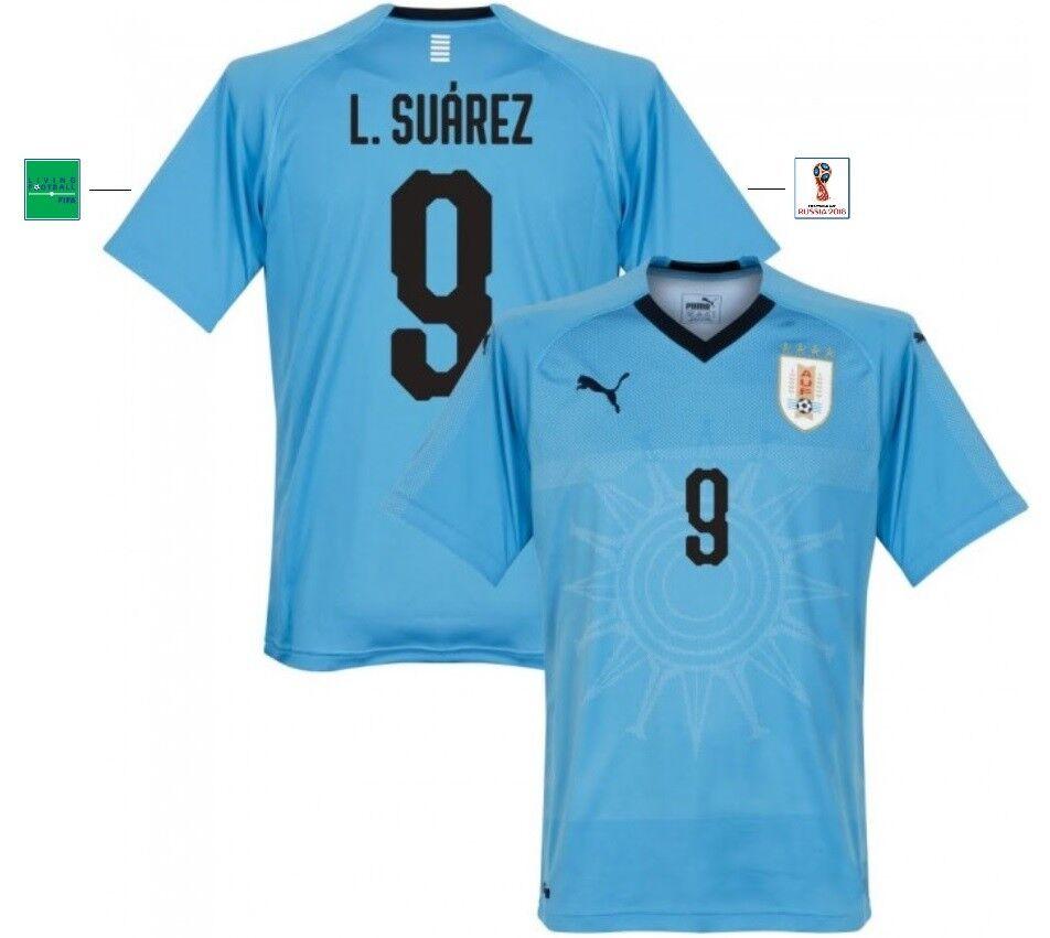 Trikot Puma Uruguay WM 2018 Home - L. L. L. Suarez 9 8a005e