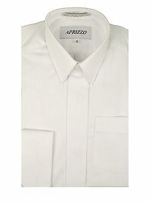 Boys French Cuff Cufflink White Textured Dress Shirt multiple Styles Sizes 4 /& 5
