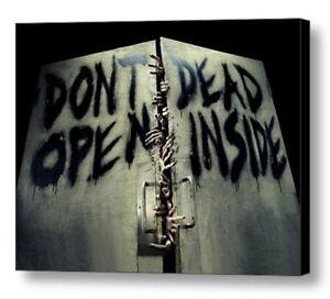 Amc The Walking Dead Don T Open Dead Inside Framed Door