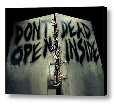 AMC/'s 2015 THE WALKING DEAD Don/'t Open Dead Inside Luggage Tag NEW