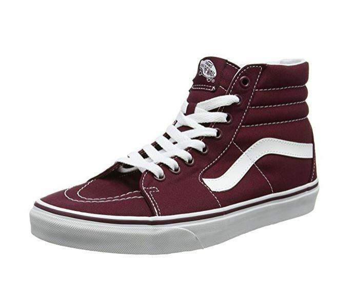 * Vans Unisex Sk8-Hi (Canvas) Skate Shoe, Port Royale, Uomo SIZE 9.5,10,11,13 US