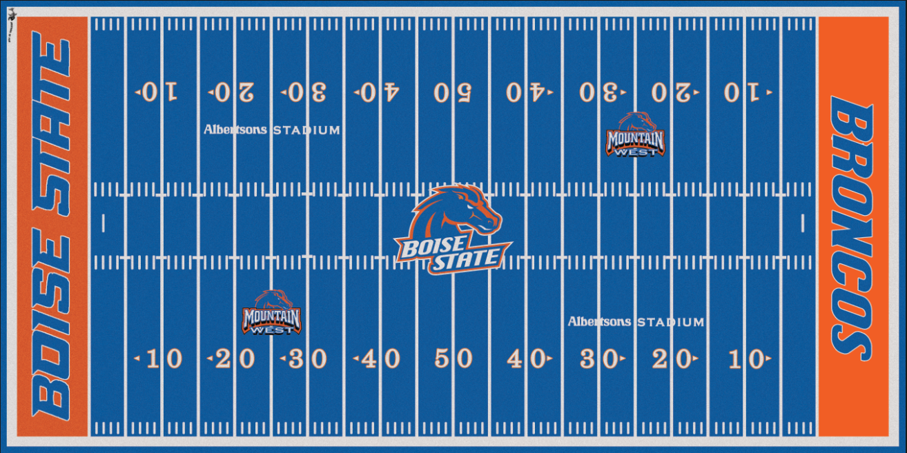 Boise State Broncos Electric Football Vinyl Field Cover Man Cave Wall Art