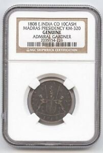 Admiral Gardner Shipwreck Coin East India Certified Authentic.