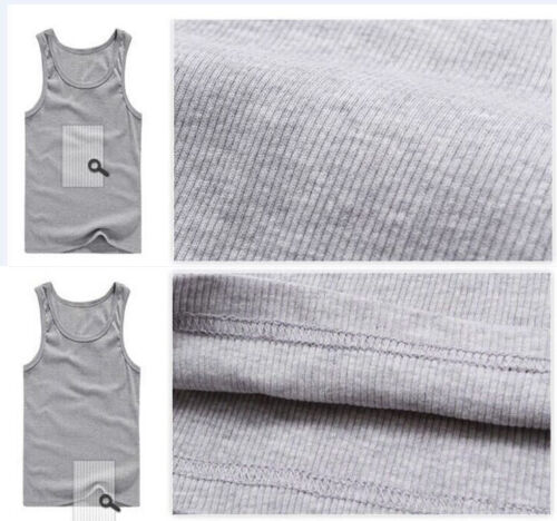 Herren Weste Ärmellos T-Shirts Muskelshirt Unifarbe Unterhemd Tanktop Mode JO!