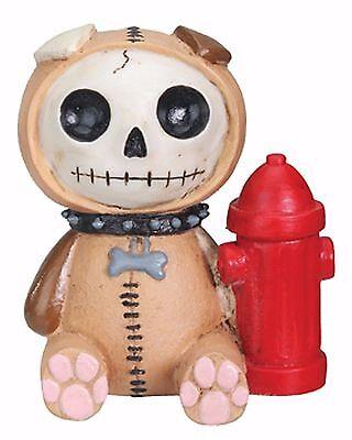 Furry Bones Brown Rocky Dog Skeleton Animal Figurine