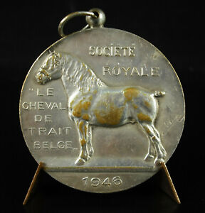 Medal-Belgium-1946-le-Horse-of-Trait-Belgian-Association-Royal-Workhorse-Medal