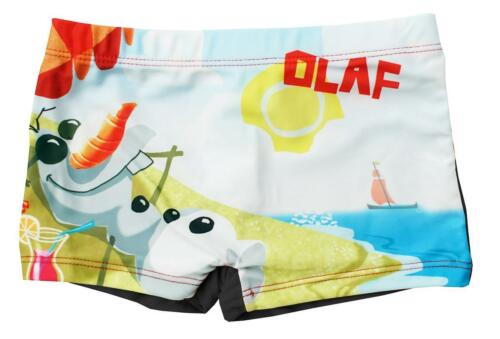 Boys Disney Frozen Olaf Chillin Swim Boxer Style Shorts Trunks 3 to 6 Years