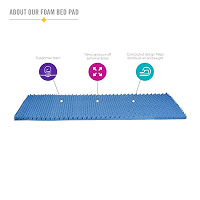 Egg Crate Convoluted  Foam Hospital Bed Mattress Pad Topper Twin Size NEW