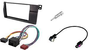 set radioblende bmw 3 e46 iso antenneadapter 2din. Black Bedroom Furniture Sets. Home Design Ideas