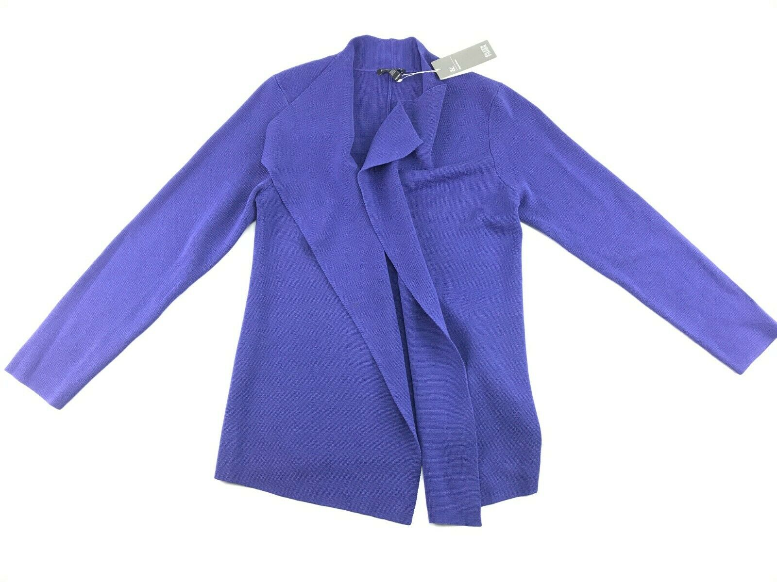 Eileen Fisher damen lila Silk Blend Open Front Cardigan Iris Shaped Jacket MP