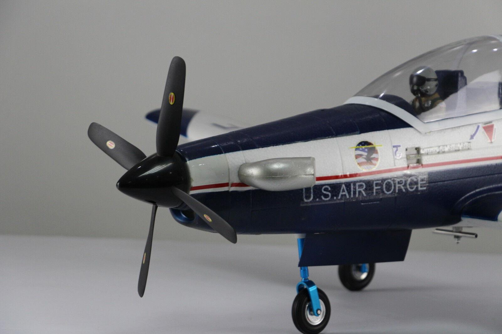 Único avión RC PNP Hélice Servos T6 Texan Con Motor Sin Escobillas ESC sin batería