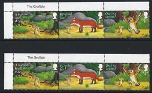 Grossbritannien-2019-die-Gruffalo-Set-mit-6-in-2-Streifen-von-3-Mint-Briefmarke