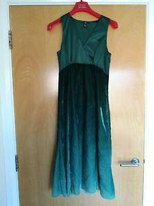 Ladies-H-amp-M-Dress-Size-8-Green-Ombre-Velvet-Party-Evening-Wedding-Smart