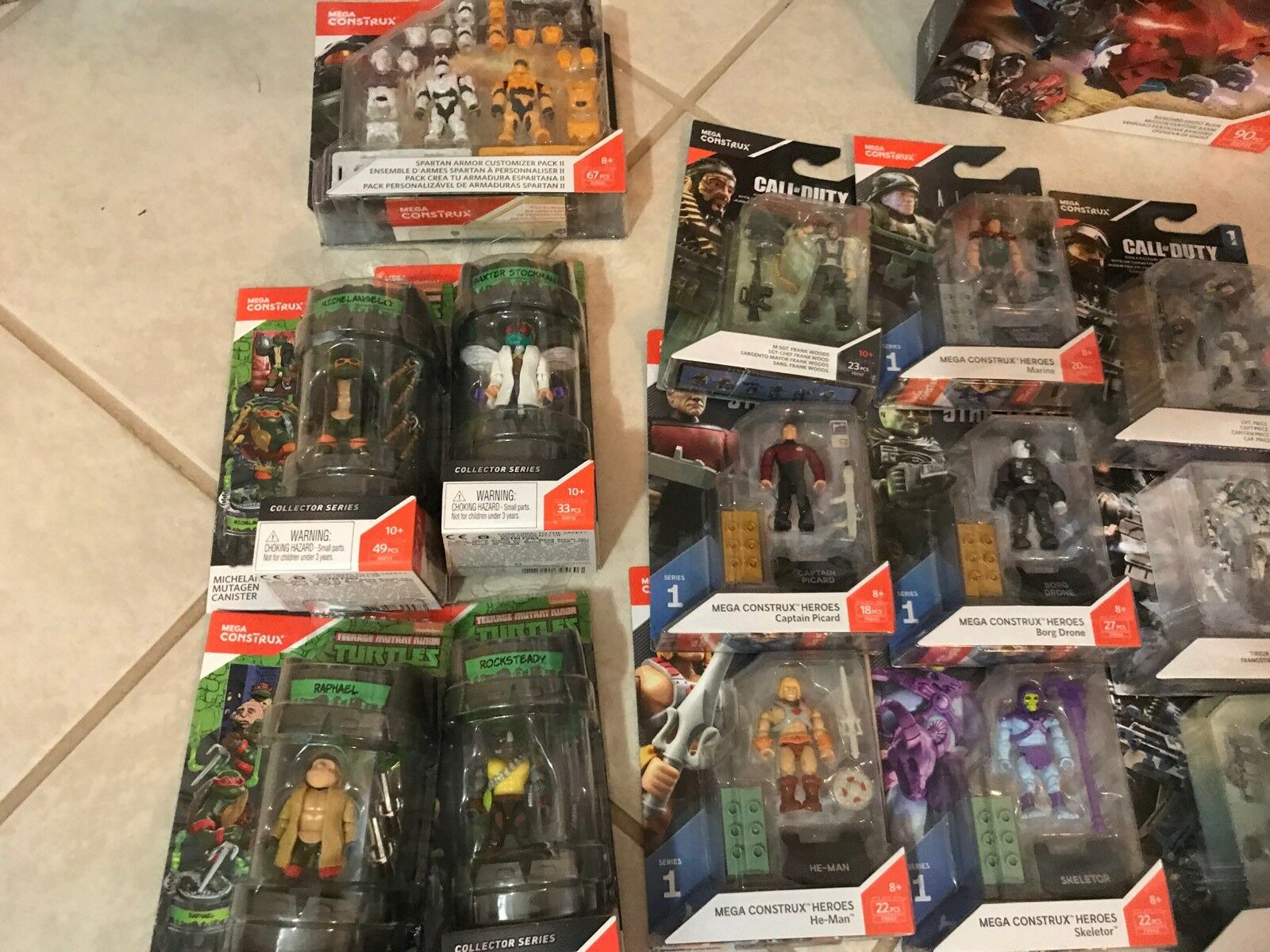 Motu He-man Skeletor Halo Call Of duty TMNT Ninja Ninja Ninja Turtles Mega Construx Huge Lot 7d6243