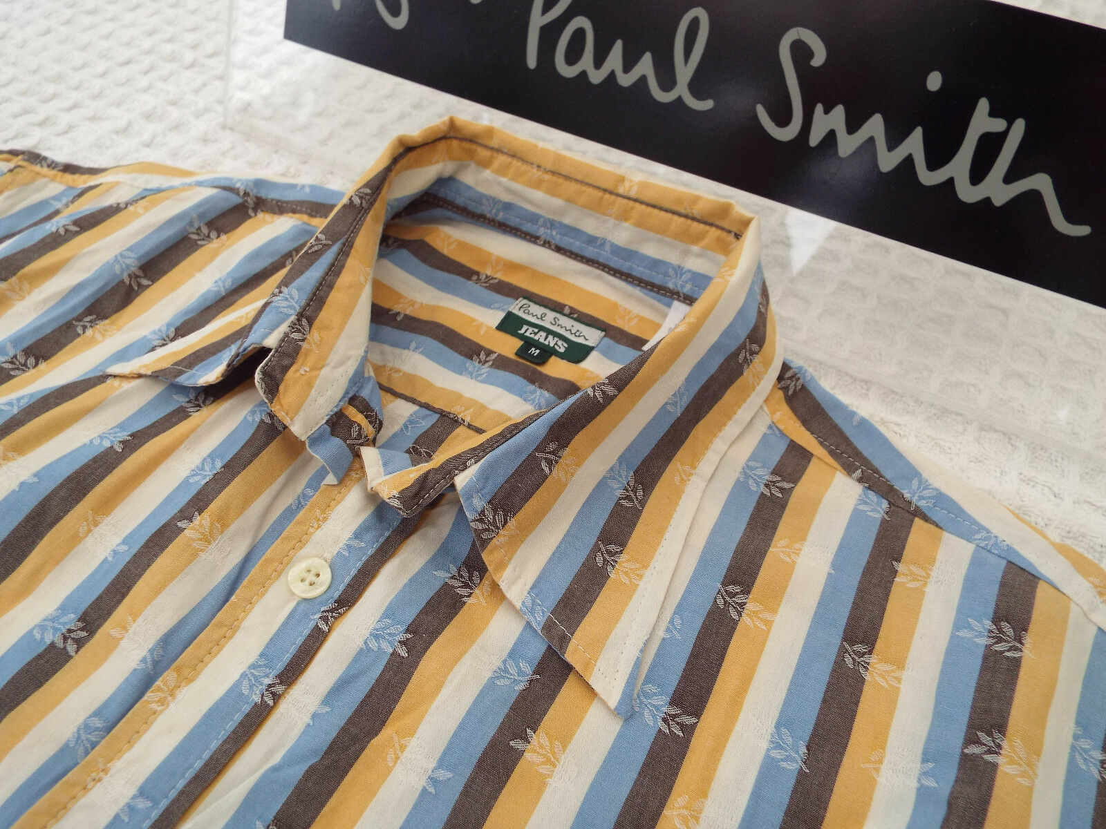 PAUL SMITH Mens Shirt  Size M (CHEST 42 )  RRP + FLORAL AND STRIPES