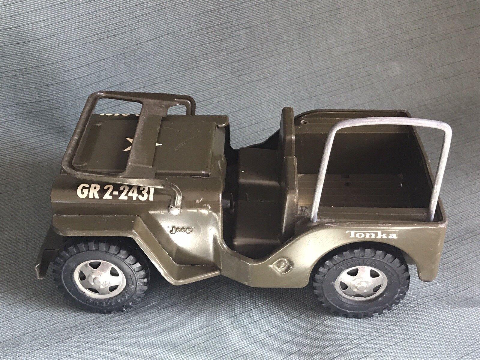 Vintage  vert Toy Tonka Jeep....LOOK  Réponses rapides