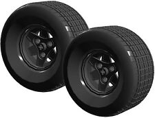 2 Lego WIDE Tires + Wheels (technic,tyre,tread,batman,tumbler,bat-pod,racer,car)