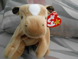 Retired-Derby-Ty-Beanie-Baby-EXTREMELY-RARE-Course-Mane-White-Spot-MINT
