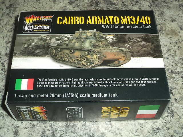Italian Army Carro Armato M13 40 Bolt Action WWII Warlord Games 1 56 Model New