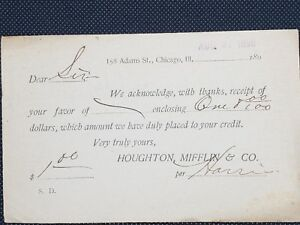 1896-HOUGHTON-MIFFLIN-amp-Co-SC-UX12-US-Postal-Card-to-Athens-Wisconsin