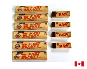 RAW-Classic-King-Size-Slim-Rolling-Papers-6-Booklets-amp-4-Raw-Roach-Tips-Combo