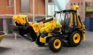 JCB-3CX-ECO-Excavator-Digger-1-76-OO-00-Oxford-Hornby-Bachmann-Scenecraft-Model