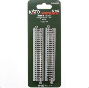 Kato-20-020-Rail-Droit-Straight-Track-124mm-4pcs-N