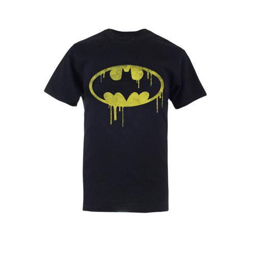 Bambini DC Comics-Batman stillicidio T-Shirt Logo-Nero-Ufficiale