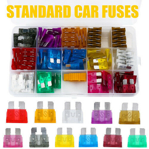 150 stücke Auto Auto Standard Sicherungen Klinge 2 3 5 10 15 20 25 30 35 40A Set