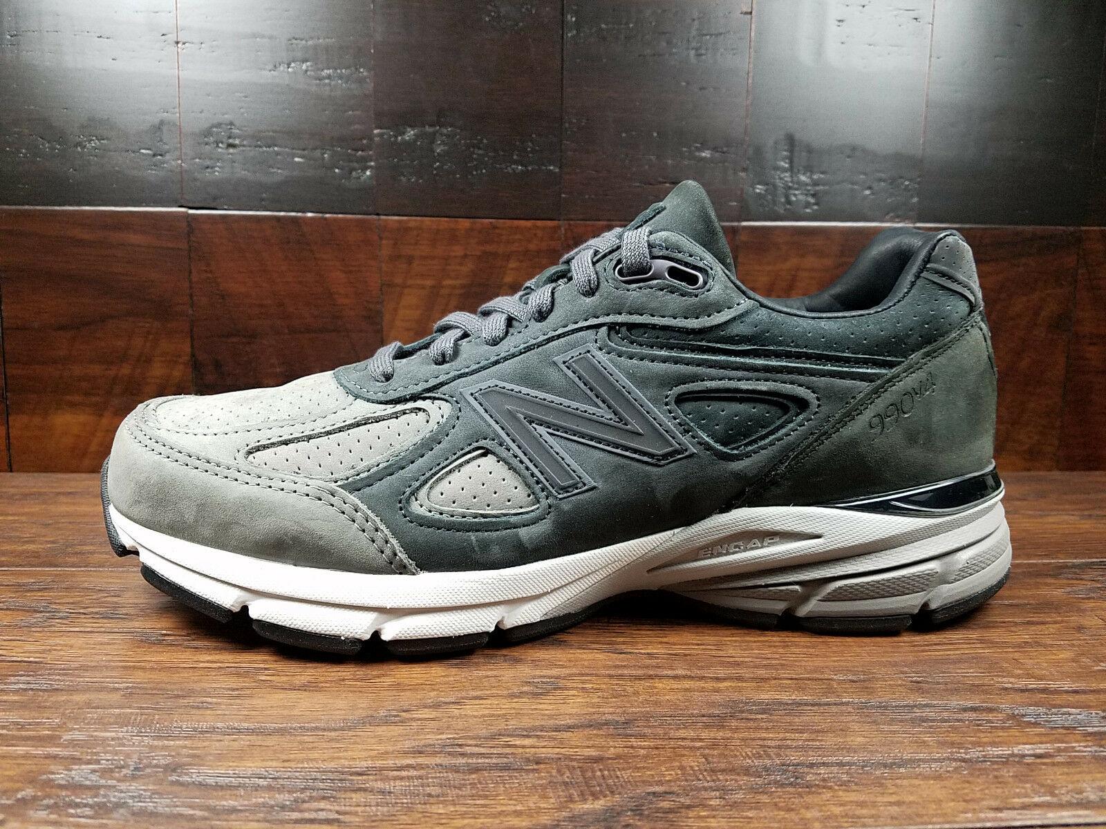 New Balance M990FEG4 Premium Nubuck -FINAL EDITION- 990v4 (Grey   Black) USA
