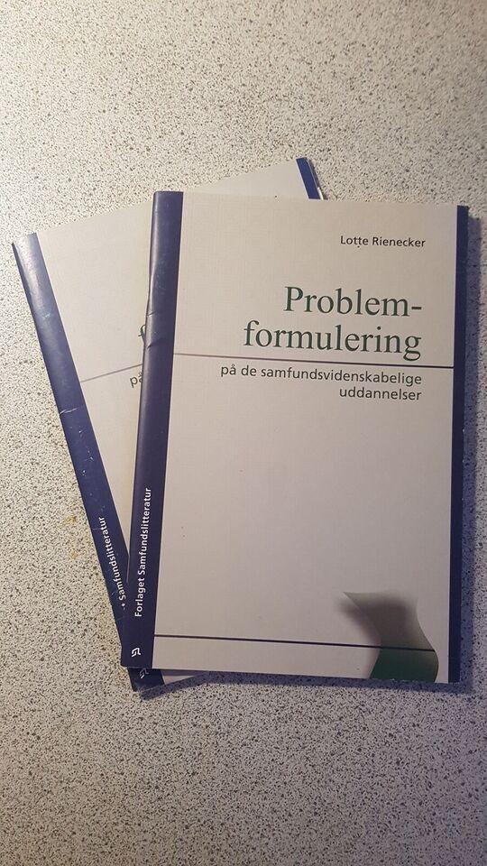 Problemformulering, Lotte Rienecker, år 2005
